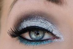 Silver and Blue Glitter