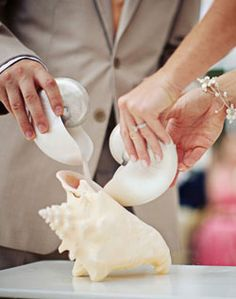 A new take on the sand #ceremony. Cute idea for a beach #wedding.