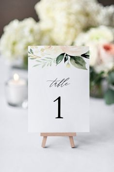 Blush Wedding Table Numbers, Printable Table Numbers Template, DIY Editable Instant Download, Recept