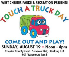 A great event for little ones - Touch a Truck Day! Aug 19