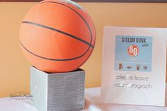 Great idea for a basketball theme guestbook