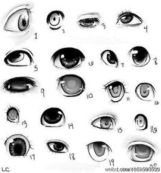 drawing eyes - references