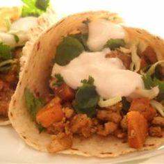 spici taco, pineappl, tacos, food, taco recipes, yams, yummi, ground turkey, yam spici