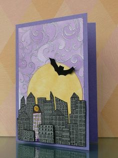 Hero Arts silly scapes Halloween card by Tina