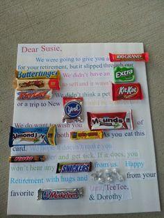 Retirement Candy Bar Card