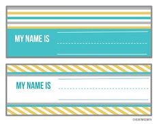 Cute Free desk name tags!