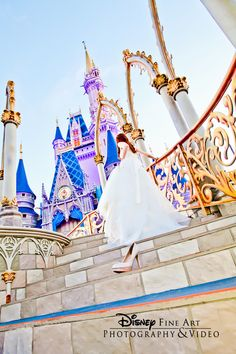 Cinderella is proof that a pair of shoes can change your life #Disney #bridal #portrait #MagicKingdom #Cinderella #castle