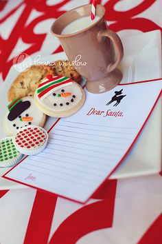{Free Printables} Our Letter to Santa & Wish List on Hostess with the Mostess!   The TomKat Studio