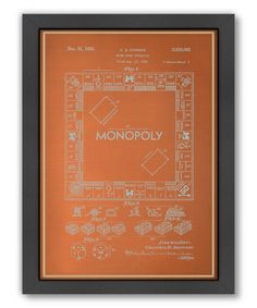 Take a look at this Darrow Monopoly Blueprint Framed Wall Art by Americanflat on #zulily today!