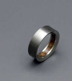 love this wedding band with the wood inside