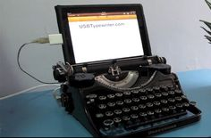 Steampunked typewriter
