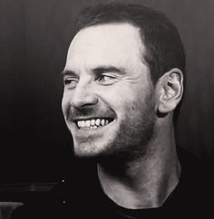 Michael Fassbender and that amazing shark smile! :D