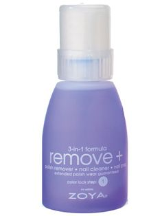 "Zoya Remove Plus - InStyle Best Beauty Buys 2012 Winner. Best 2012  Nail Polish Remover  Zoya Remove Plus  This three-in-one is ""not your average remover,"" says L.A. nail pro Jenna Hipp. It comes in a convenient pump (no muss, no fuss), and it's so incredibly strong that it can remove black polish in a single swipe. Yet, it's gentle, moisturizing nails without leaving a white film."
