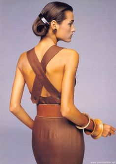 casual cloth, style, bracelets, dress, yasmin le, blackandwhit fashion, 1988, 1980s, le bon
