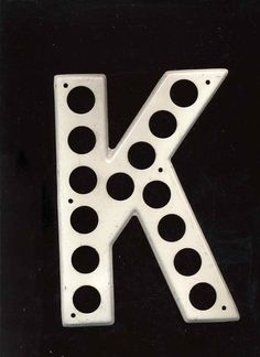 """K"" for the alphabet wall"