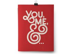 Deeb Family Fundraiser »You, me, &... »typography