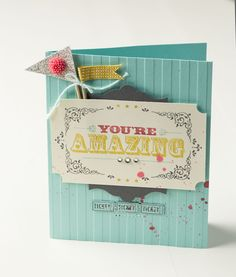 The pennants on this card are adorably amazing!