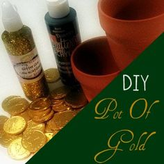 DIY pot of gold Tutorial #stpatricksday