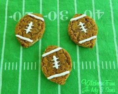 Little Debbie Oatmeal Creme Pie Footballs. Perfect for any tailgate!