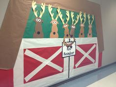 Good for door decorating contest. Winter Bulletin Board Ideas