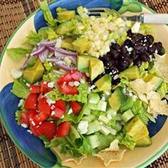 "Baja Salad | ""Wow!! So Good!!! We all loved this. The dressing ingredients say optional, but in my opinion they are a MUST. It really brought everything together, loved the tang of the lemon on the salad. YUM!!"