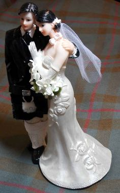 Scottish wedding cake topper large. $35