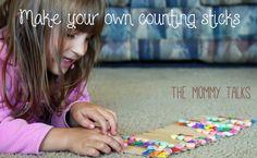 home made Montessori math aids