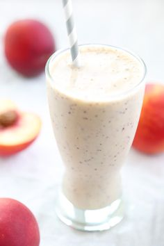 Peaches and Cream Smoothie - RABBIT FOOD FOR MY BUNNY TEETH