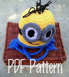 Crochet Hat Pattern  Despicable Me Minion Hat by LoopsAndSwoopsFL