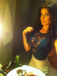 Beautiful Israeli Girl In Makeup Room