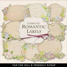 Far Far Hill: New Freebies Kit of Romantic Labels