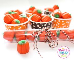 Halloween or Fall Party Candy Tubes, Candy Cups, Baker's Twine for Baby Shower, Bridal Shower, Birthday Party, Halloween Party