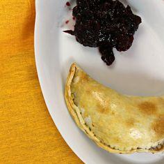 Wine infused Thanksgiving leftovers empanadas
