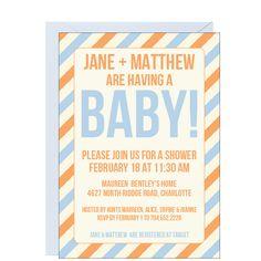 Stripes Baby Shower Invitation