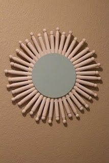 clothespin mirror for laundry room