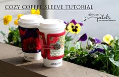 Alyson's Petals: Cozy Coffee Sleeve Tutorial and a Giveaway