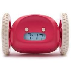 Clocky - the alarm clock that runs away and hides when you don't wake up!