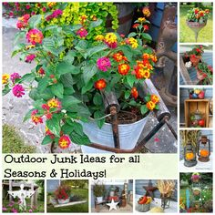 Outdoor Junk Decorating Ideas for all Seasons & Holidays www.organizedclutterqueen.blogspot.com