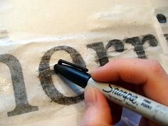 Transfer printed words from your computer onto wood to make sweet signs,