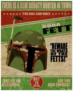 Star Wars Boba Fett  Art Print by Brian Dinter #starwars #bobafett