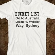 Australian Bucket List from Glamfoxx Shirts