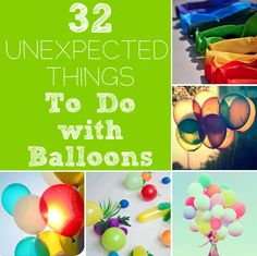 Great ideas for balloons
