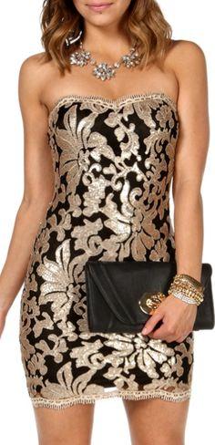 Embellished in black & gold