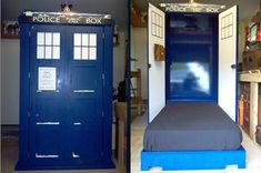 TARDIS murphy bed... oh, the adventures  to be had.
