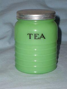 Jadite Tea Canister