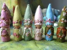 Custom Blossom Gnome Waldorf inspired Natural by paintingpixie