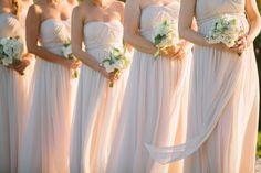Pink Chiffon Bridesmaids   photography by http://www.rebecca-arthurs.com