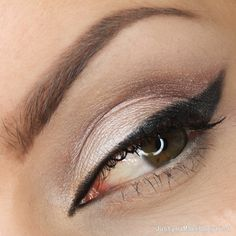 """""""Line is the basis"""" by JustynaMakeupArtist using the Makeup Geek Brown Sugar, Corrupt, and Shimma Shimma eyeshadows."""