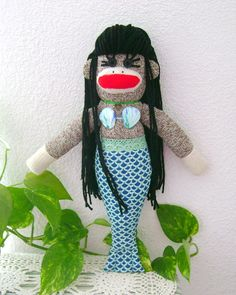 SALE!!!! Ondine the Mermaid Sock Monkey by DeedleDeeCreations on Etsy, $25.00