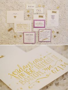 love this crafty, glittery wedding paper!